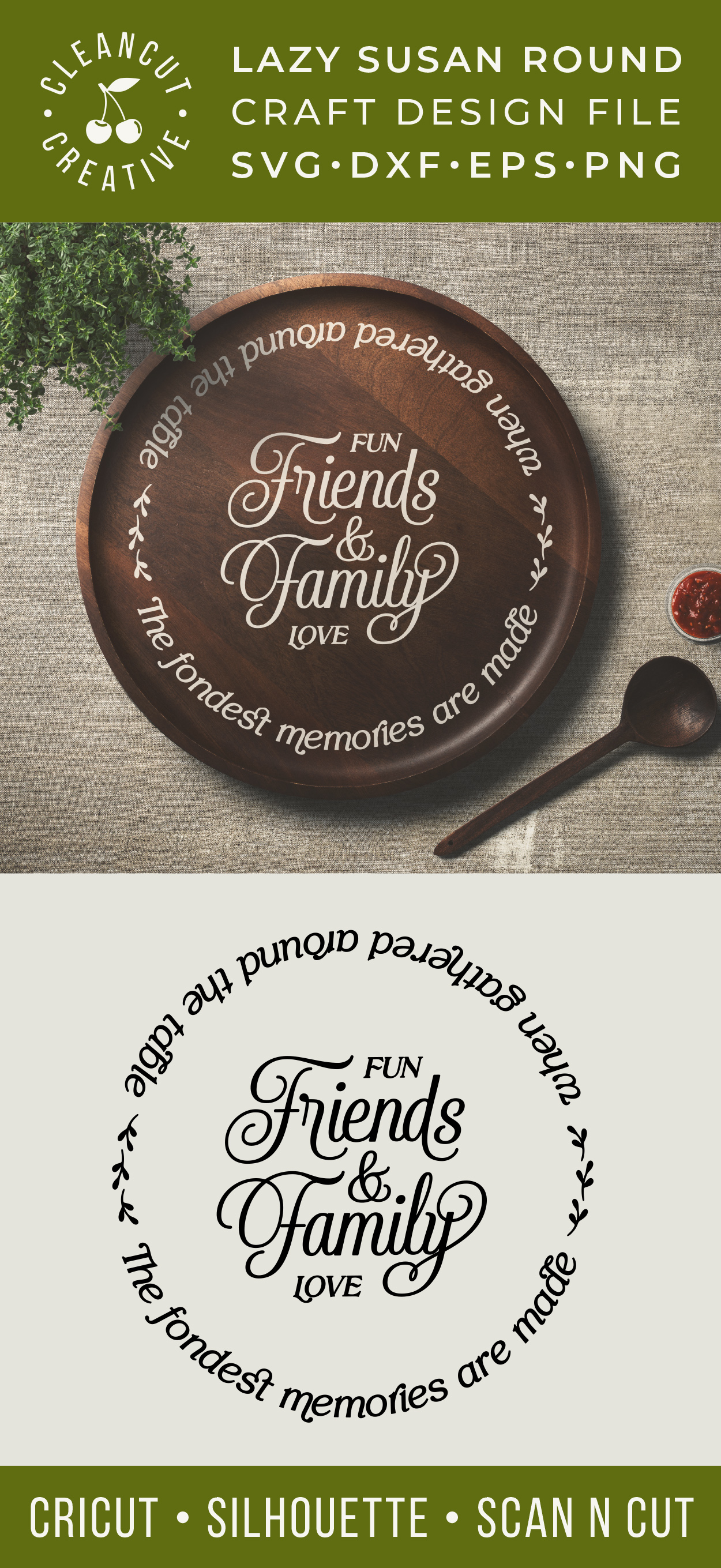 Friends & Family Fondest Memories Gathered Table - round svg example image 3