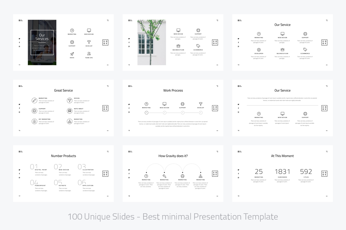 XOXO-Minimal Powerpoint Template example image 3