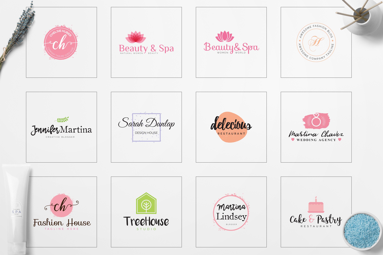 Feminine Minimal Branding Logo Pack example image 4