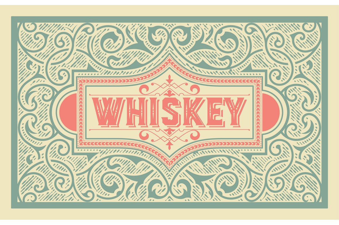 Pack of 4 vintage labels example image 2