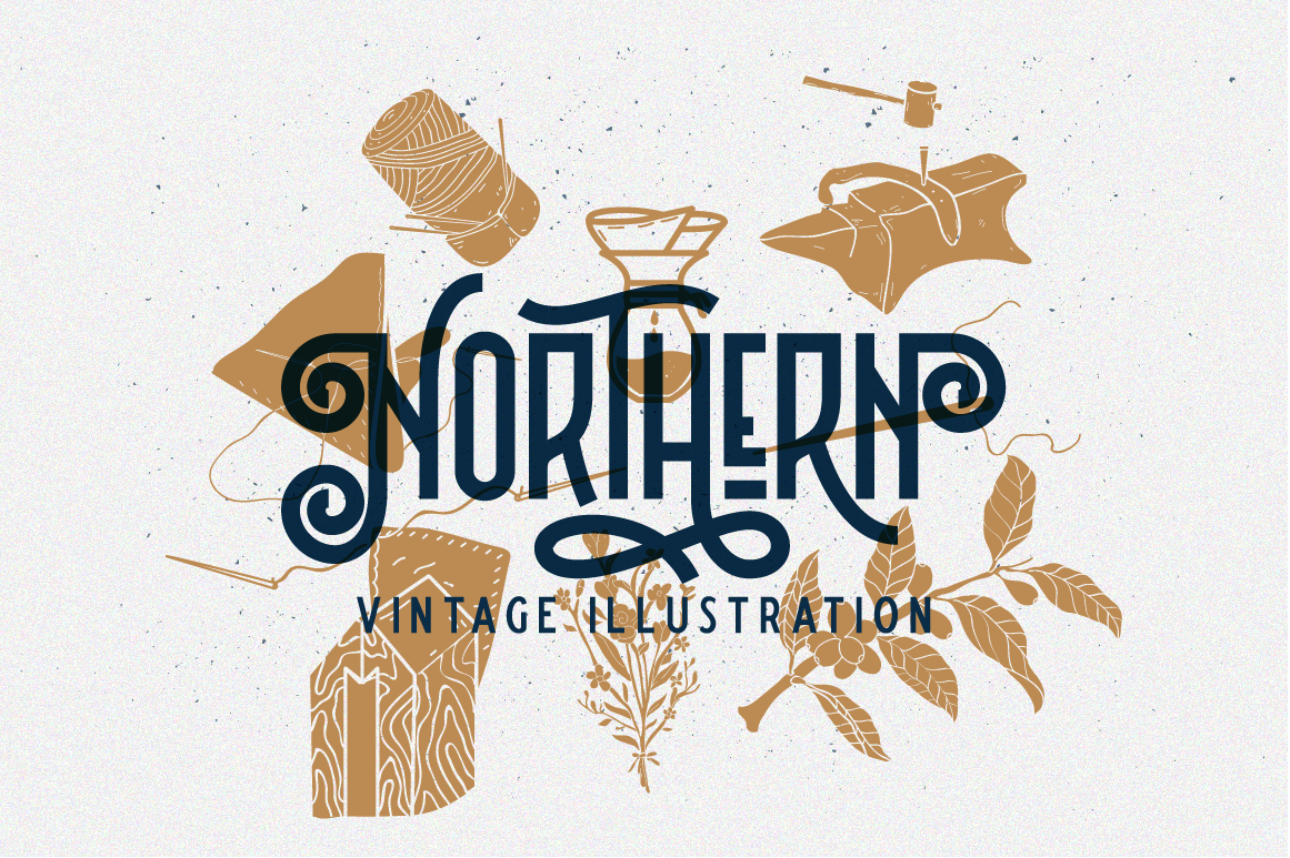 Northern 5 Fonts with Extras example image 16