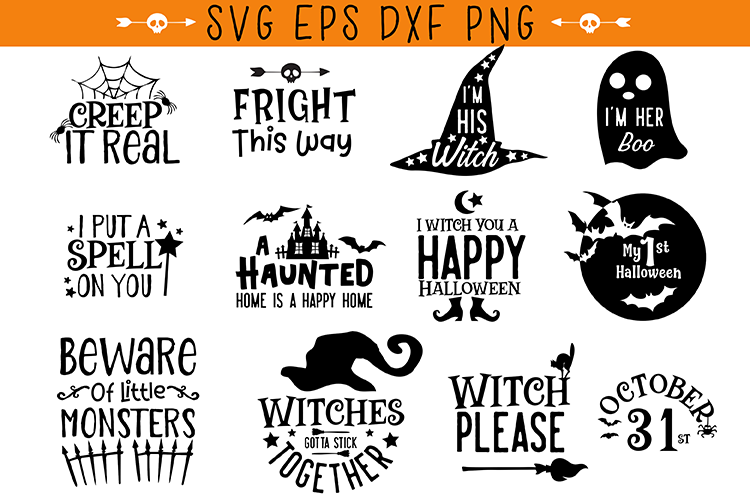 Halloween Quotes Bundle example image 2