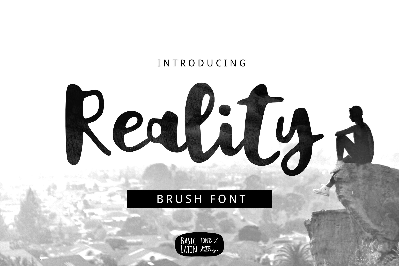 Reality Brush Font example image 1