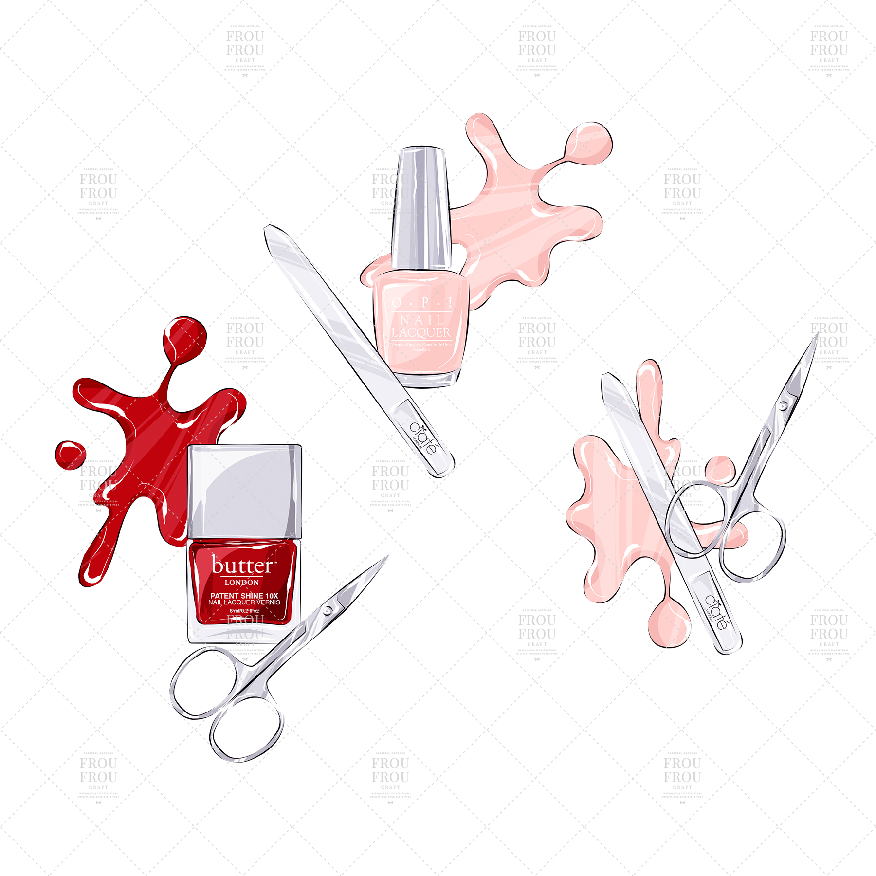 Manicure Cosmetic Nail Polish Beauty Clip Art example image 9