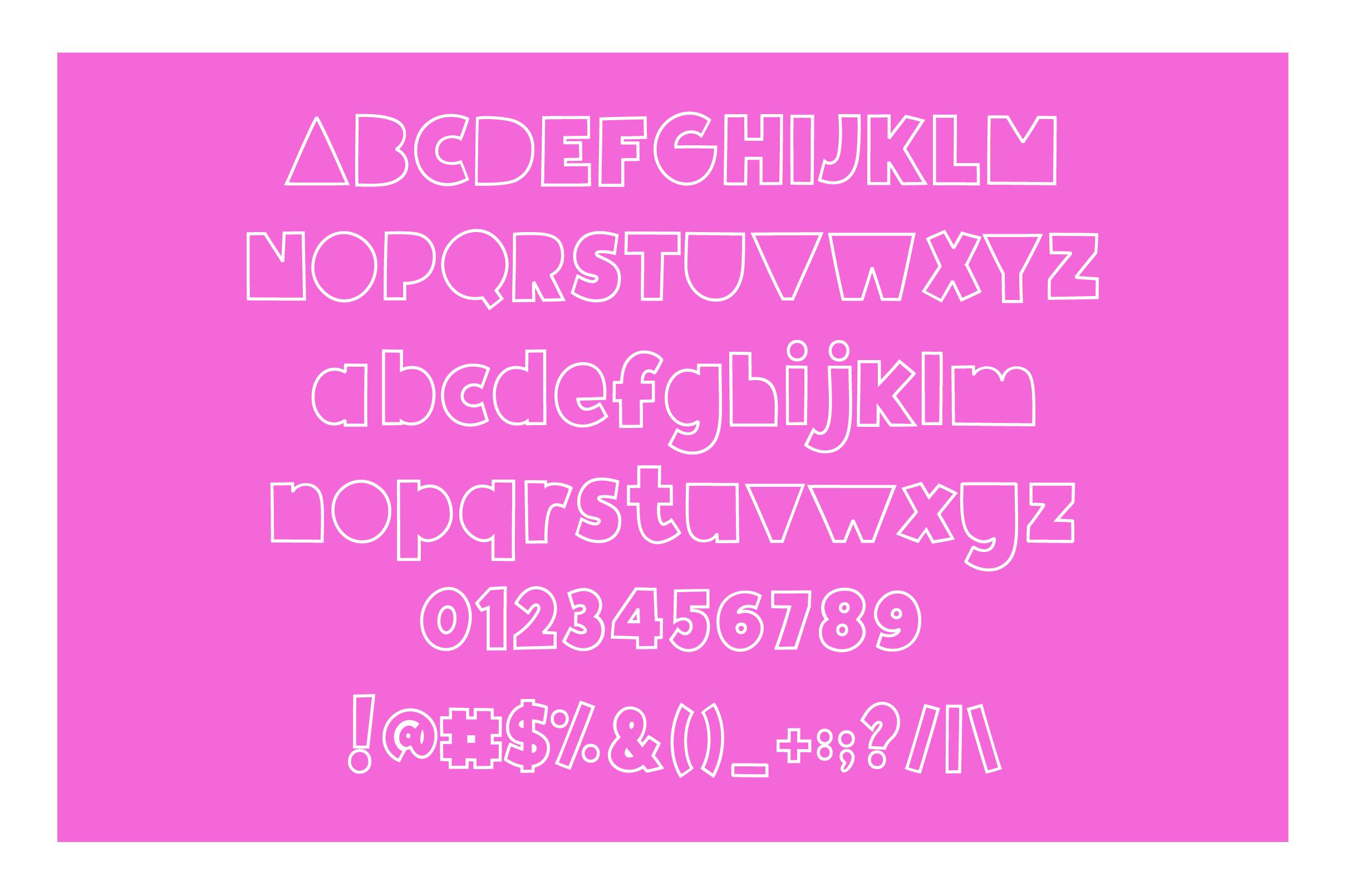 Giggle Glory, a fun block font example image 6