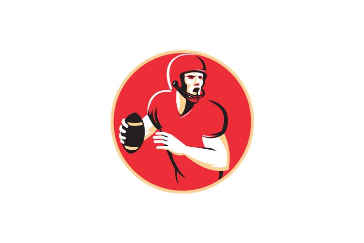 american quarterback football player passing shield example image 1