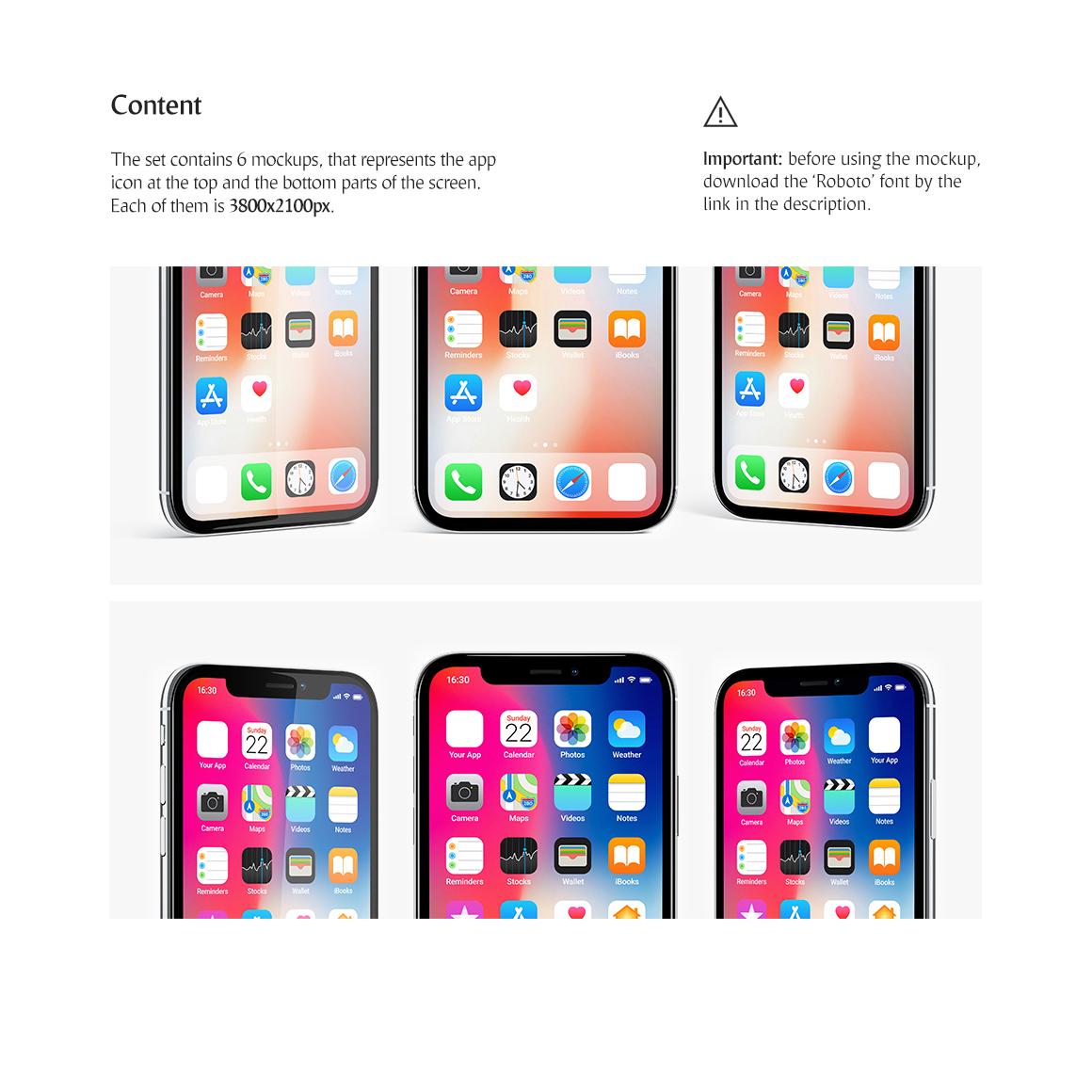 Phone App Mockups Set example image 4