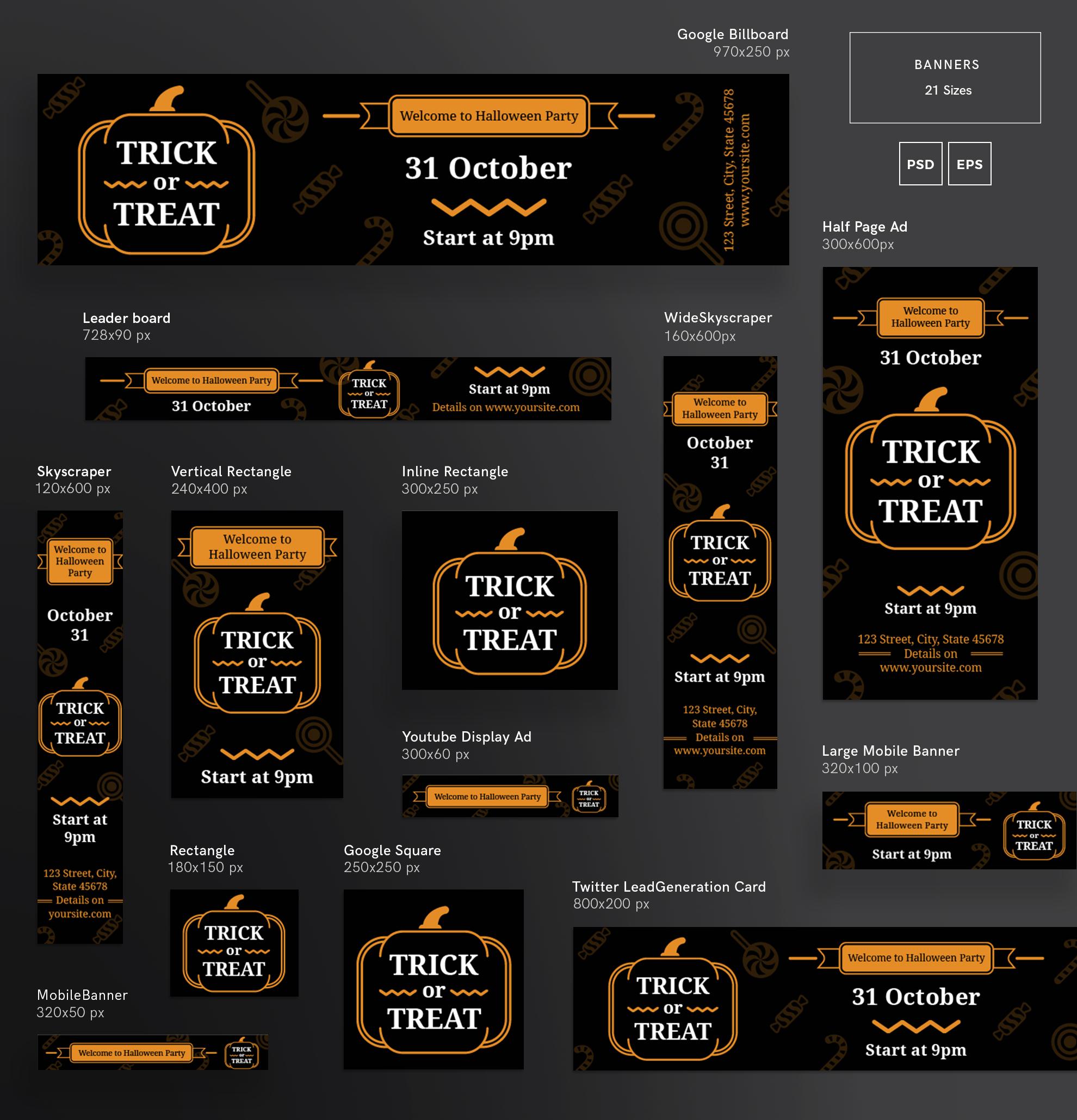 Halloween Party Design Templates Bundle example image 5