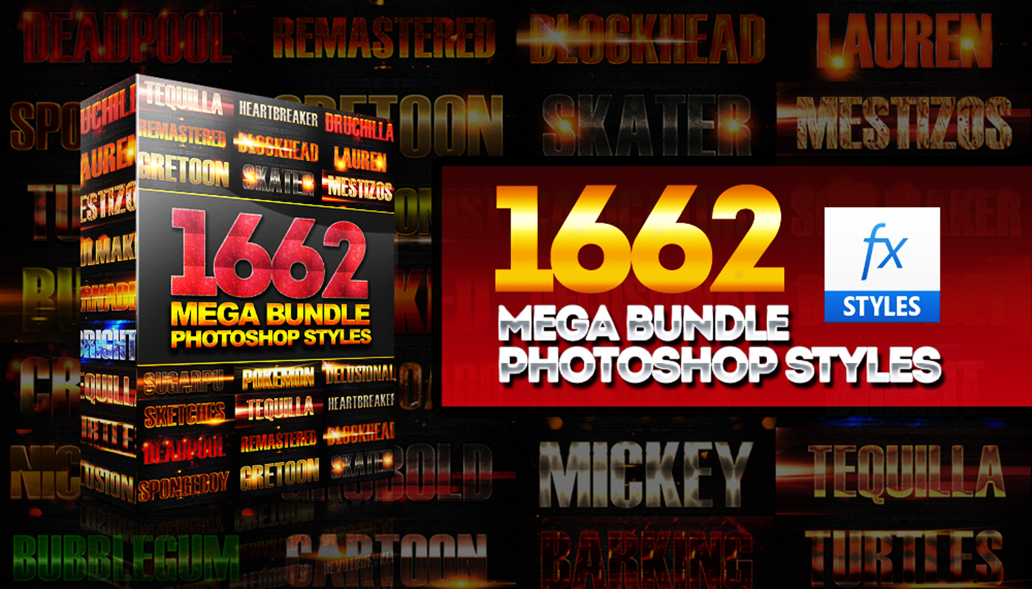 1600+ Mega Bundle Photoshop Styles example image 1