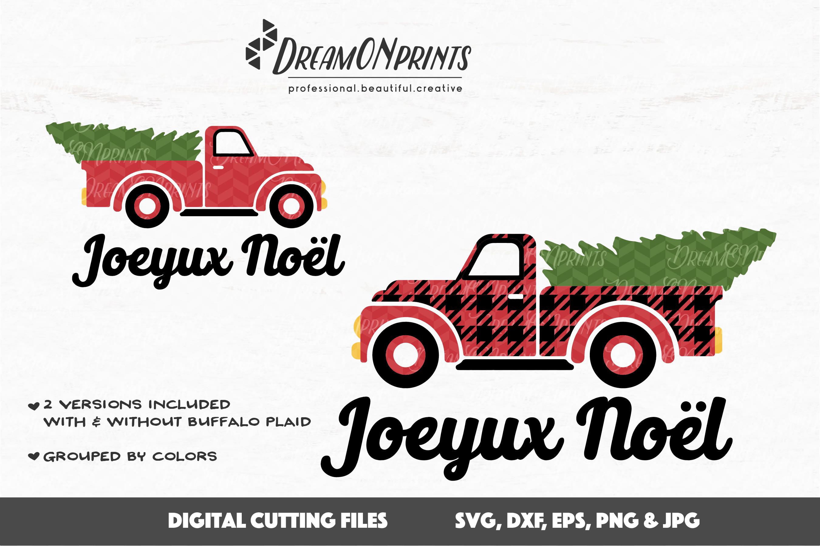 Buffalo Plaid Christmas Truck SVG Files example image 2