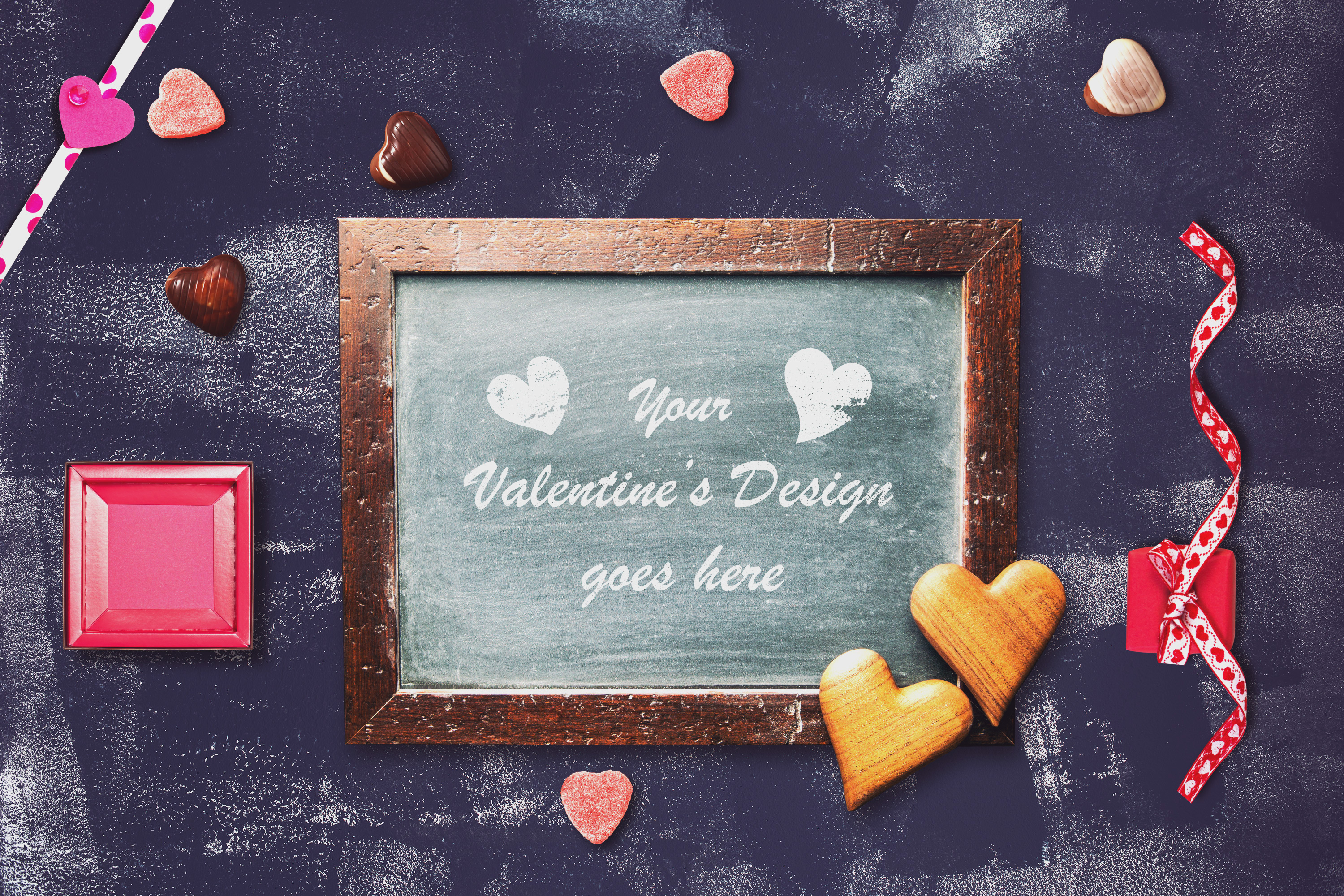 Valentine Chalkboard Mock-up #4 example image 1