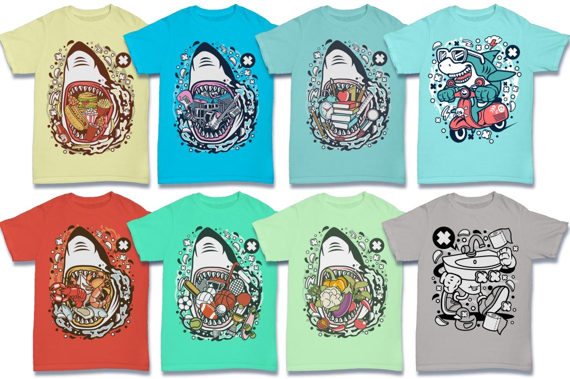 Cartoon Vector #6 Tshirt Design Bundle example image 23