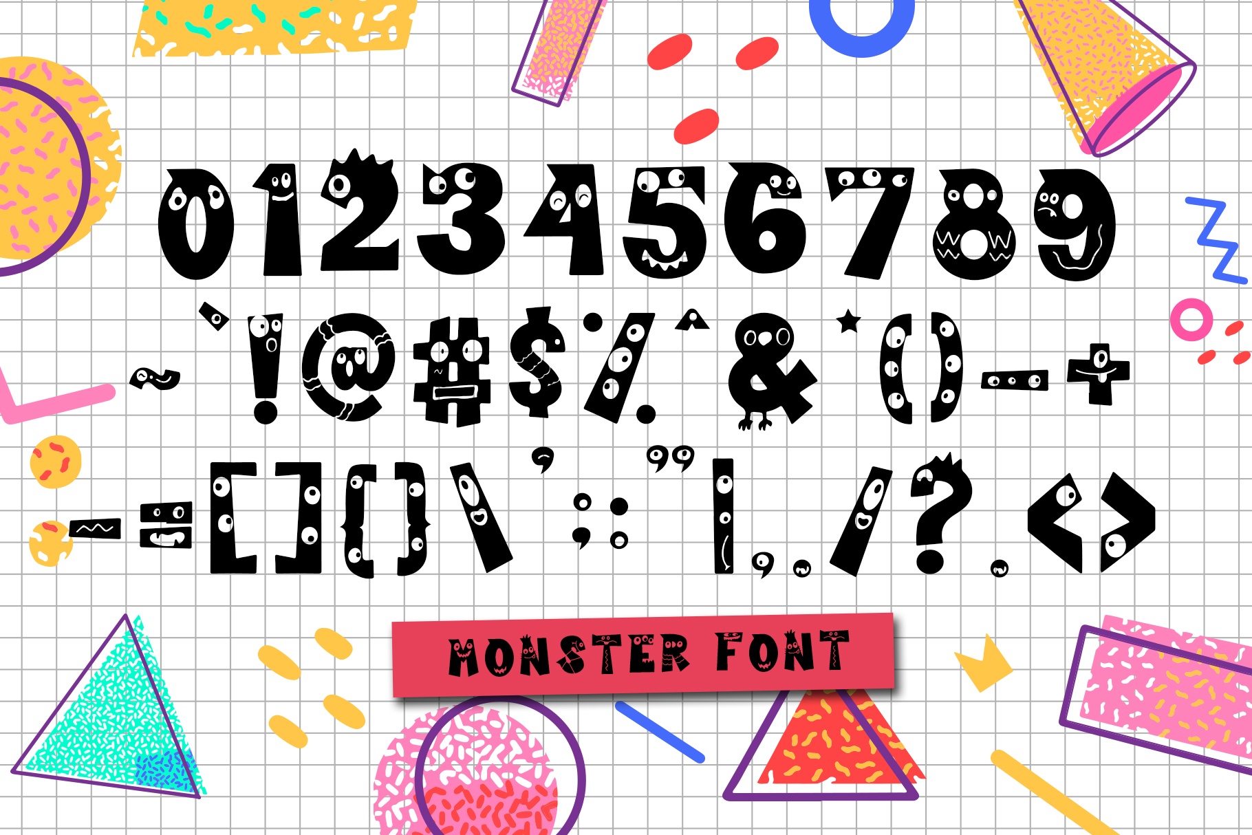 Cutie Monster - Monster Font example image 3