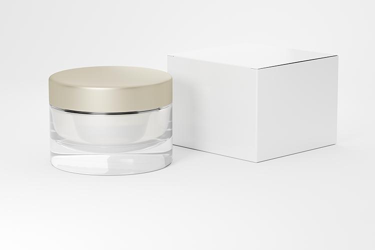 Cosmetic jar with cardboard box example image 3