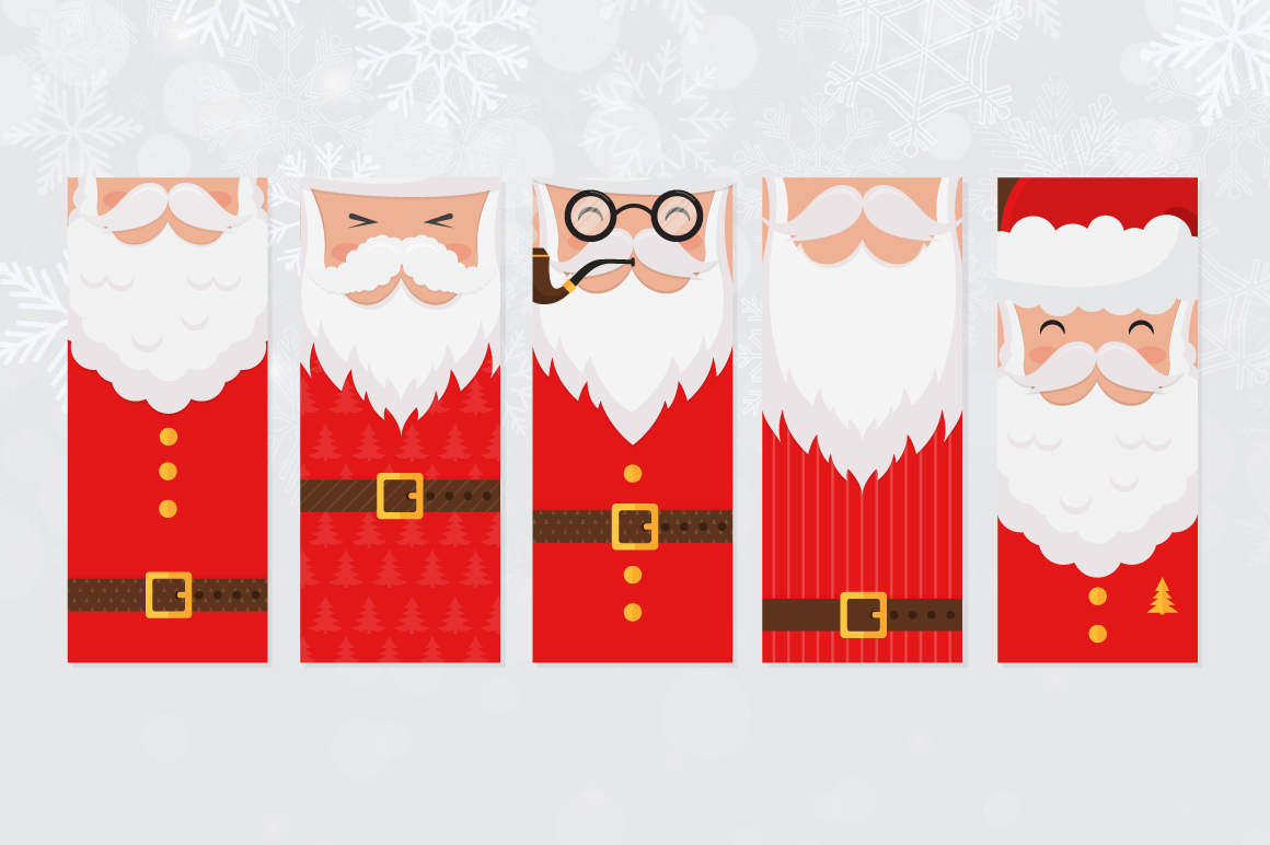 Santa Claus tags and cards example image 7