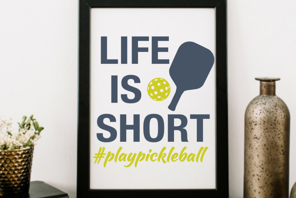Life is short #playpickleball svg Pickleball shirt svg dxf example image 2
