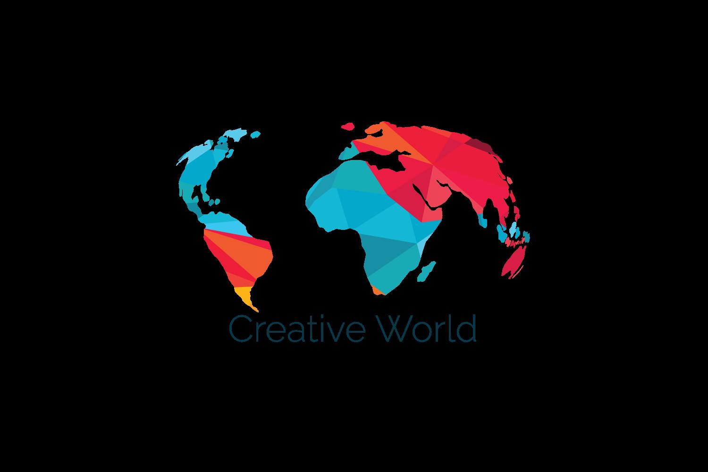 Creative World Map Vector Design. example image 2