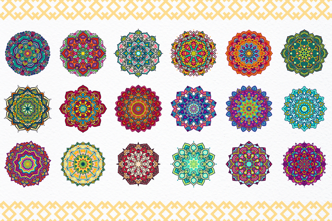 54 Vector Mandalas - Big Collection example image 2