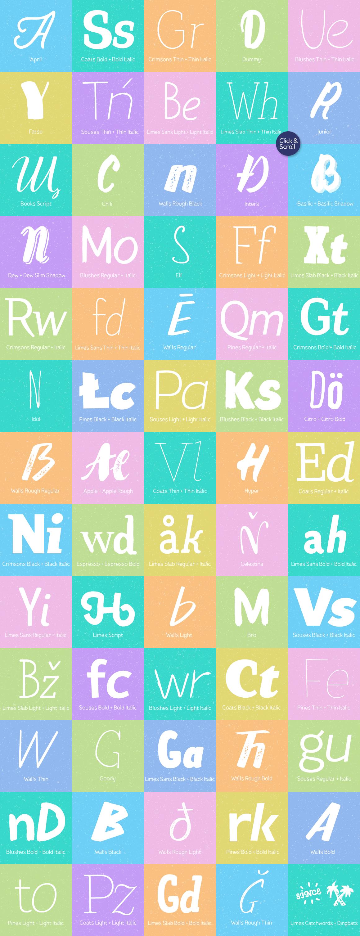 Piñata Font Bundle | 106 fonts example image 2