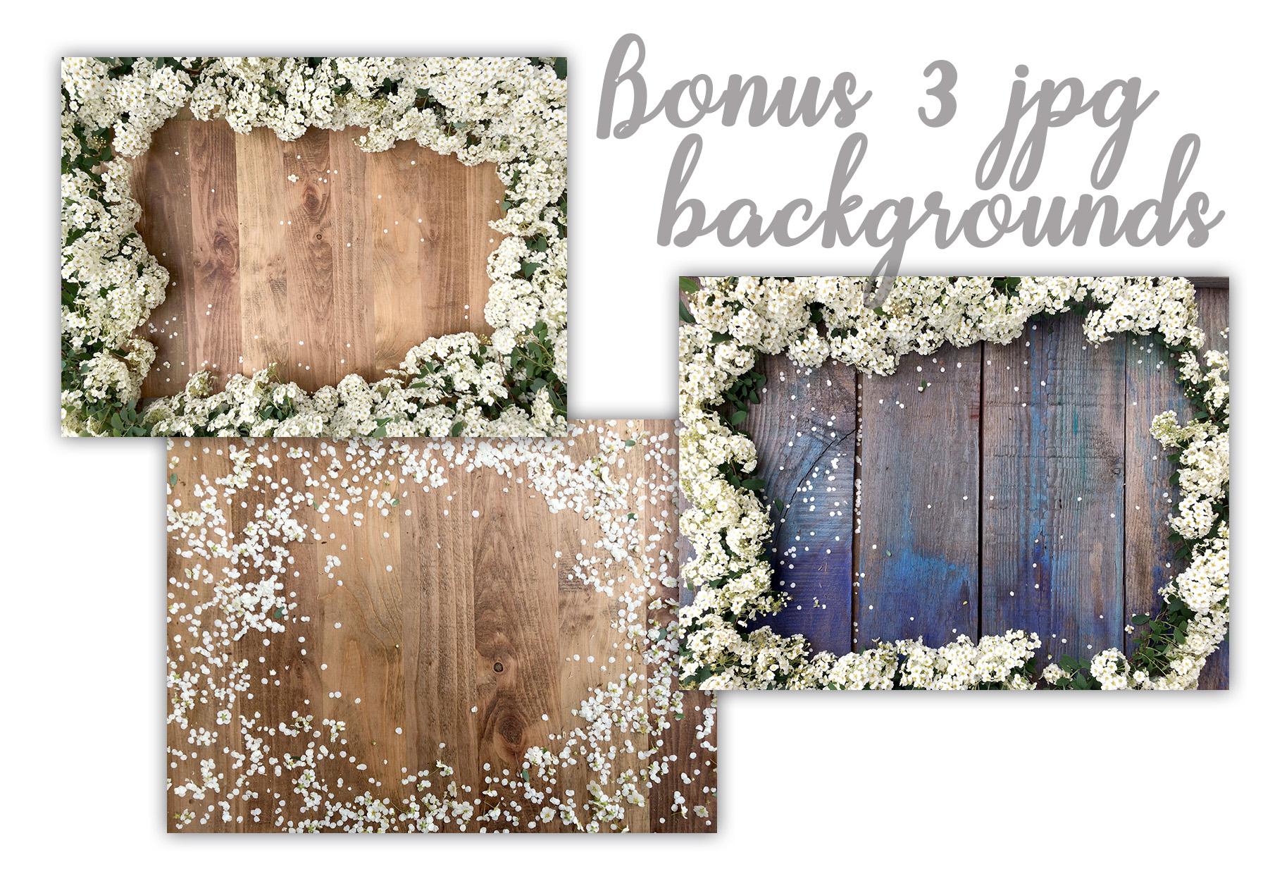 White flowers  Stock mockup set example image 3
