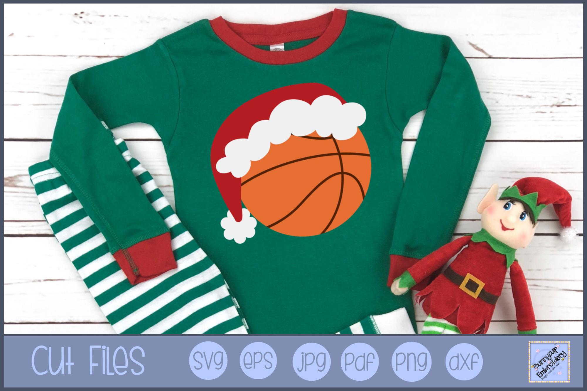 Christmas Basketball - SVG, Clipart, Printable example image 1