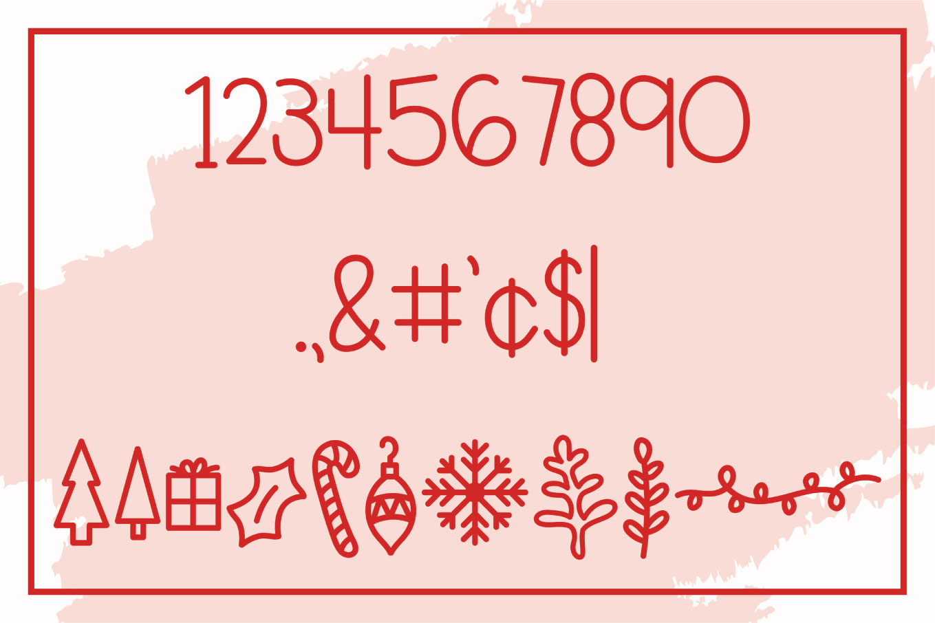 Figgy Pudding - A Christmas Font with Doodles example image 3
