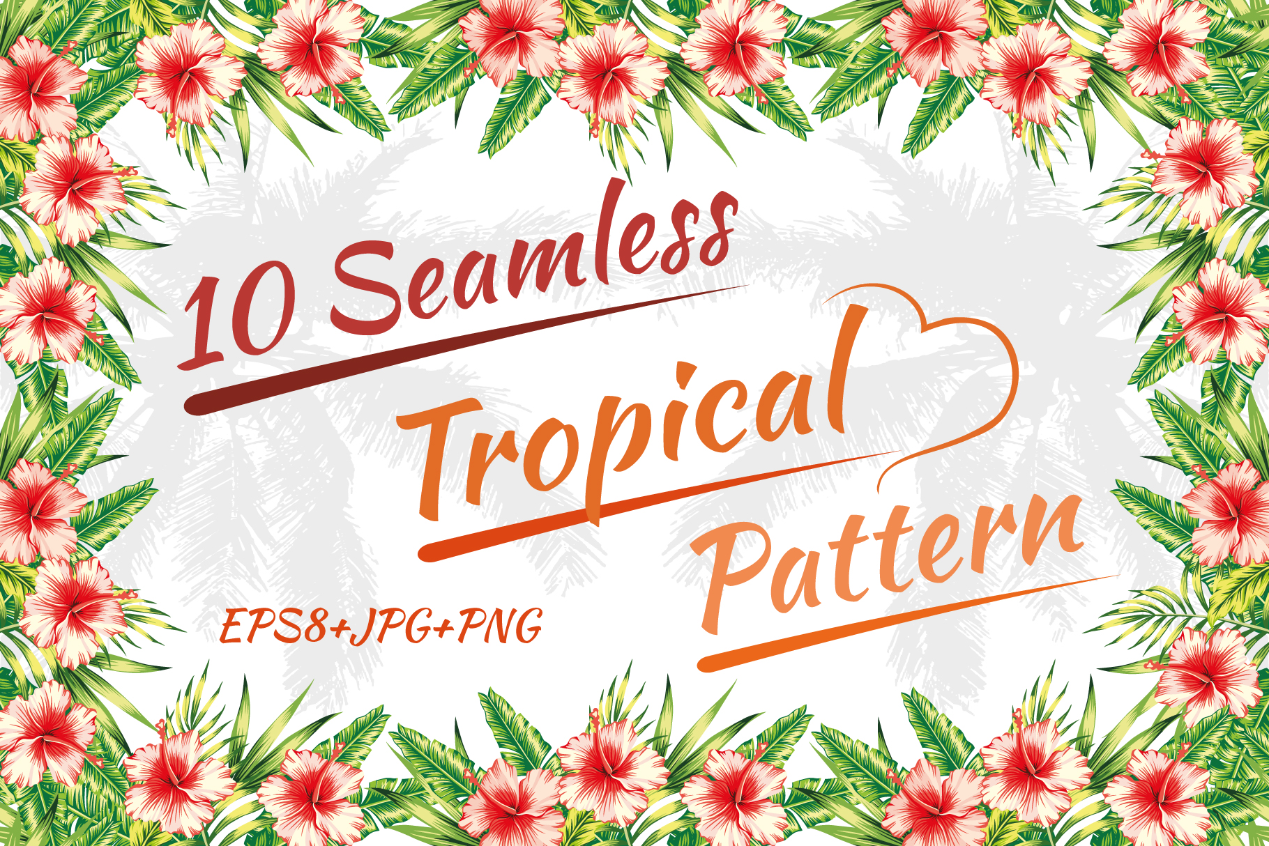 Tropical pattern. Seamless design. example image 1