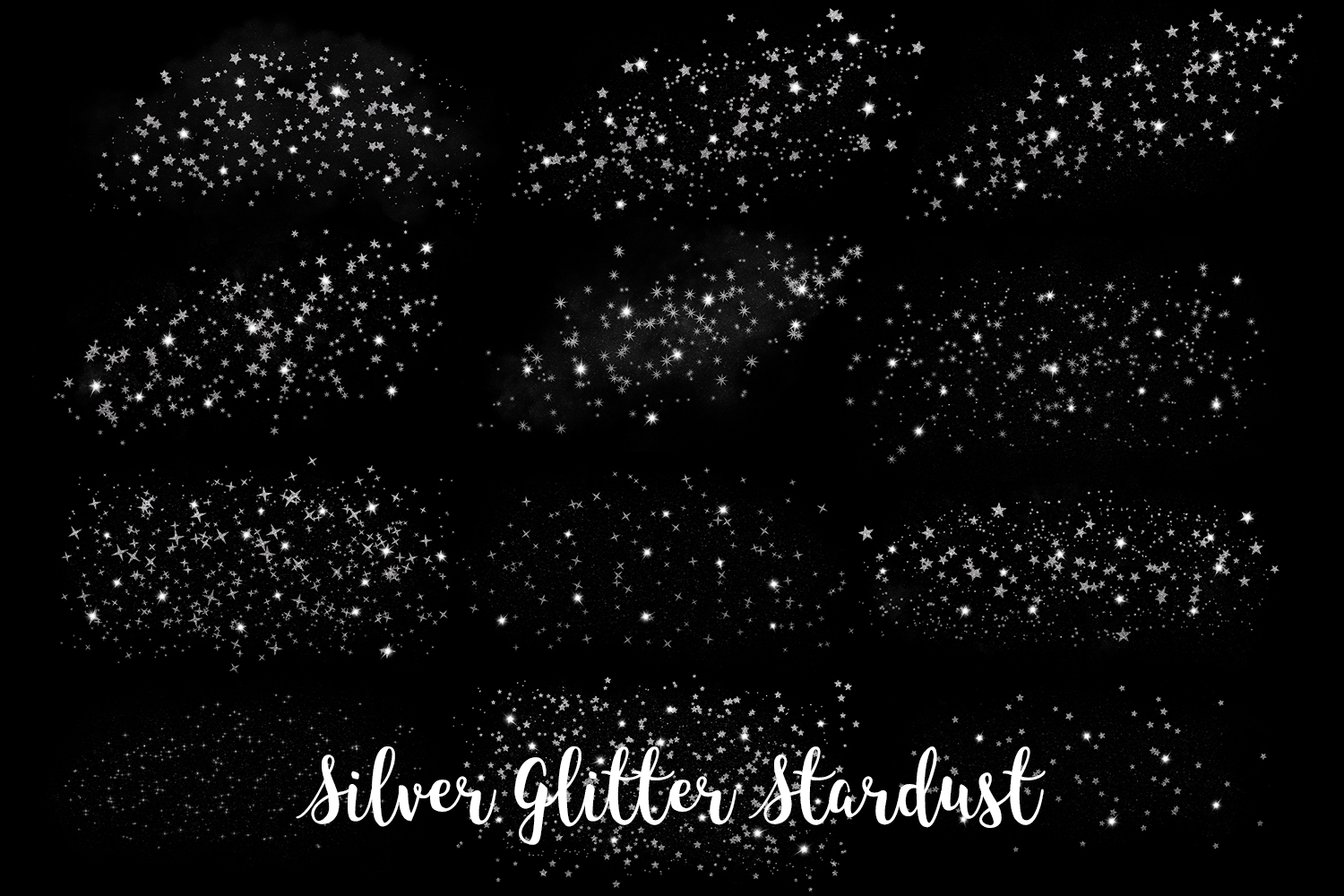 Silver Glitter Stardust, Transparent PNG example image 2