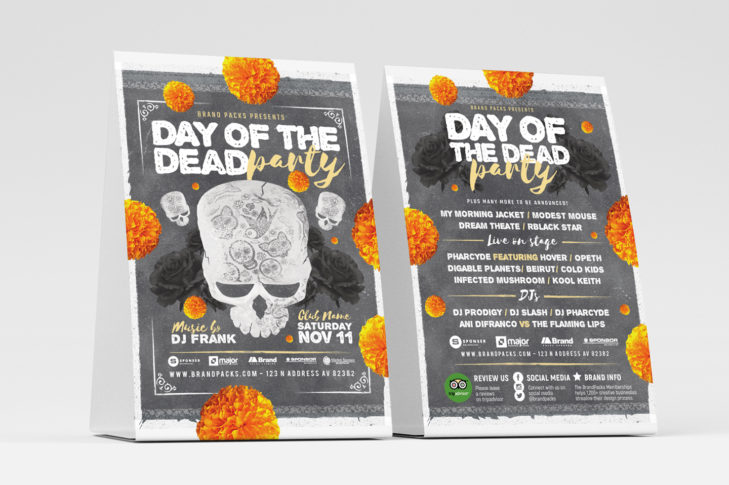 Day of The Dead Party Flyer Template example image 2