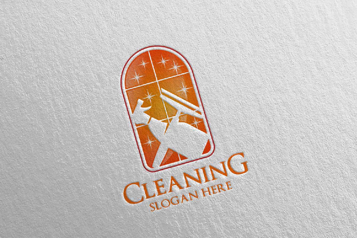Cleaning Service Vector Logo Design example image 3