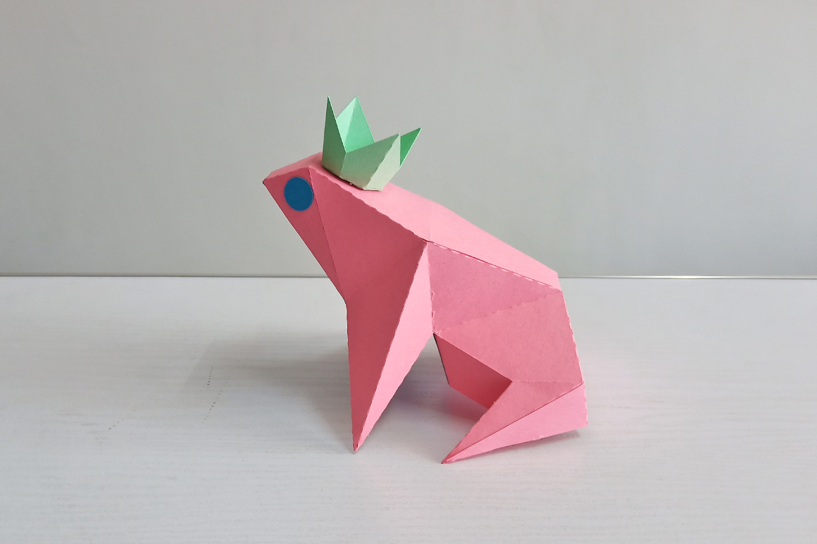 DIY Frog sitting on leaf,digital download,papercraft frog example image 6