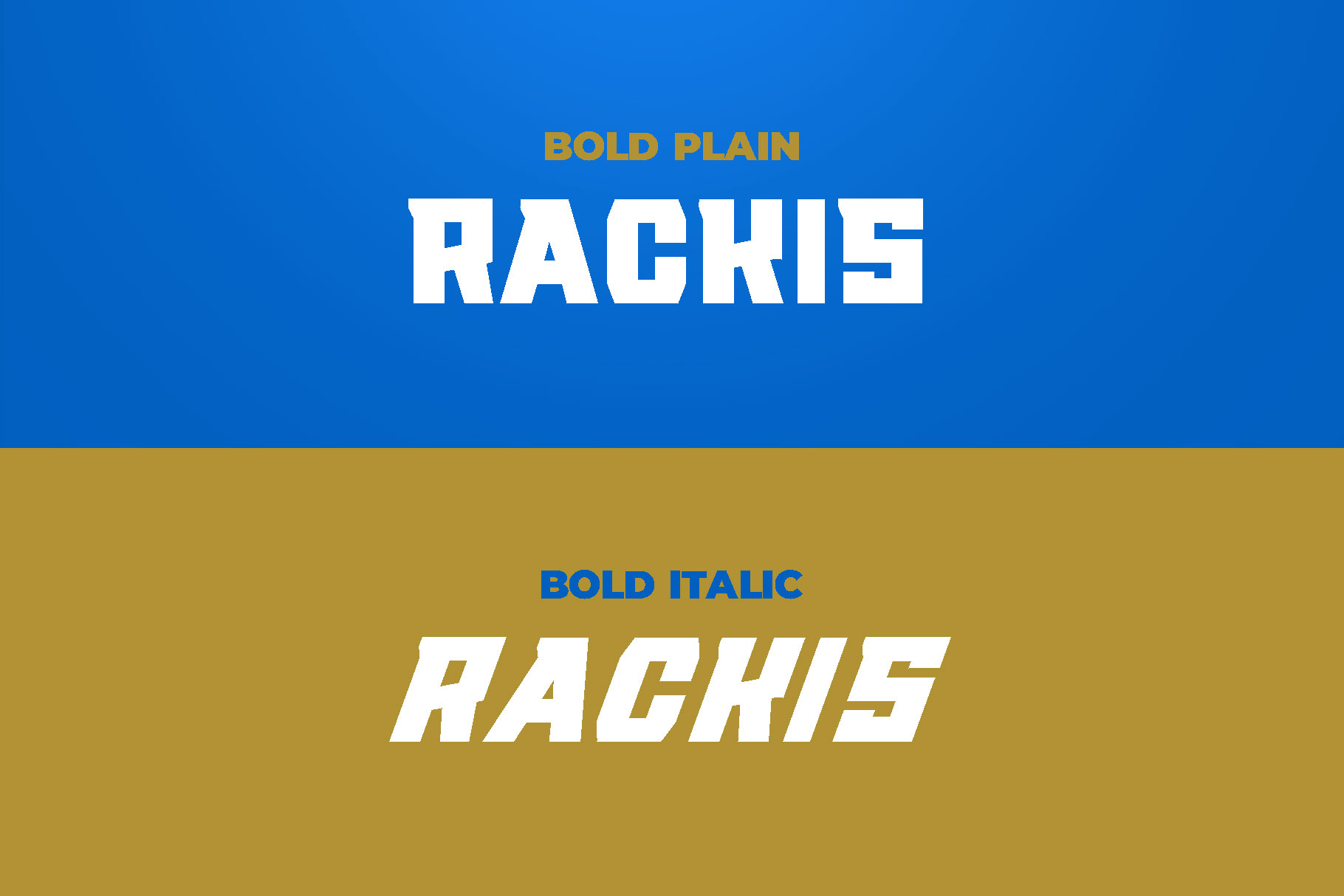 RACKIS Display Font example image 2