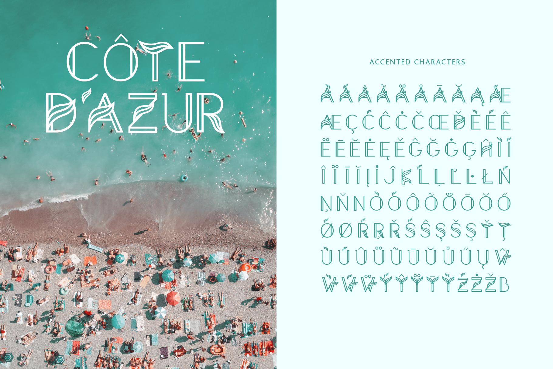 Aquarius - A Tropical & Elegant Font Family example image 9