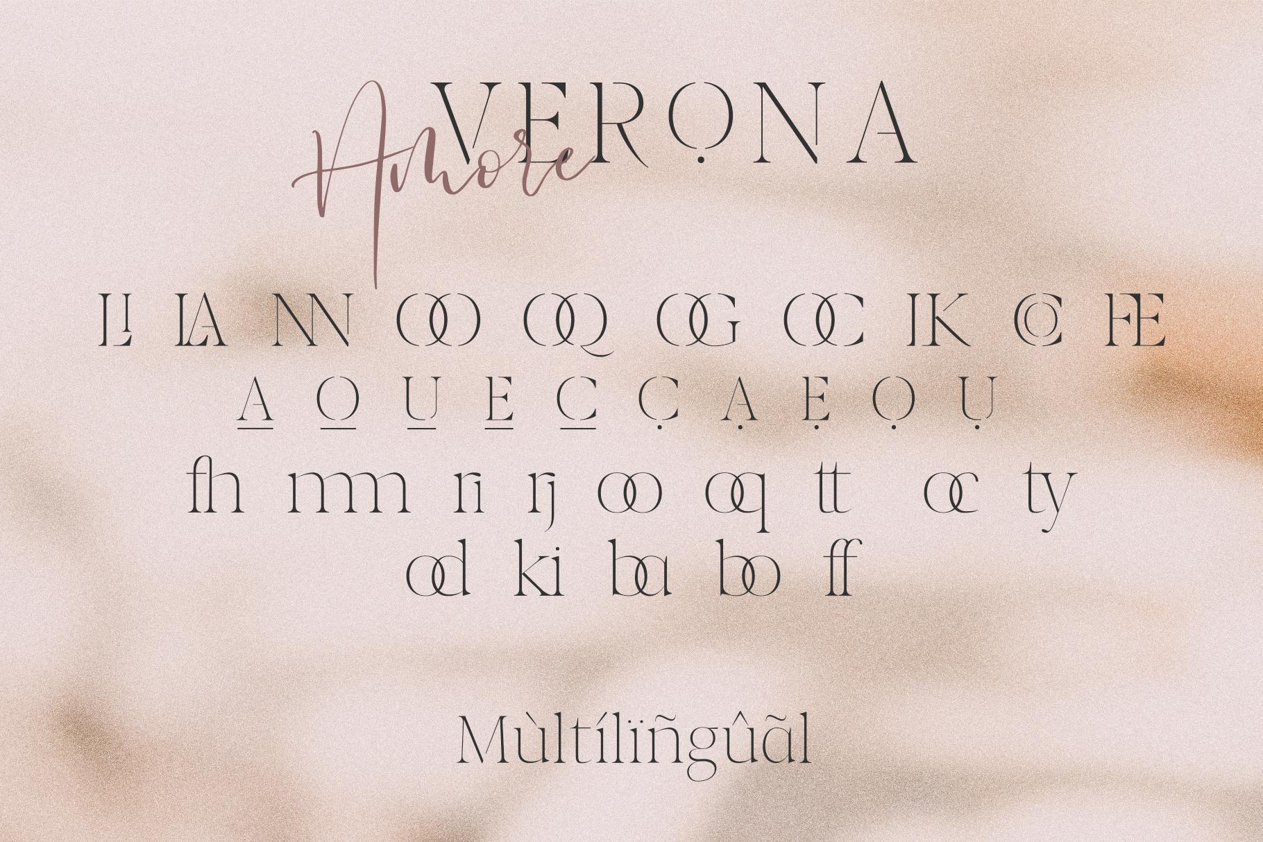 Verona Amore - Modern Serif & Script Font Duo & Extras example image 15