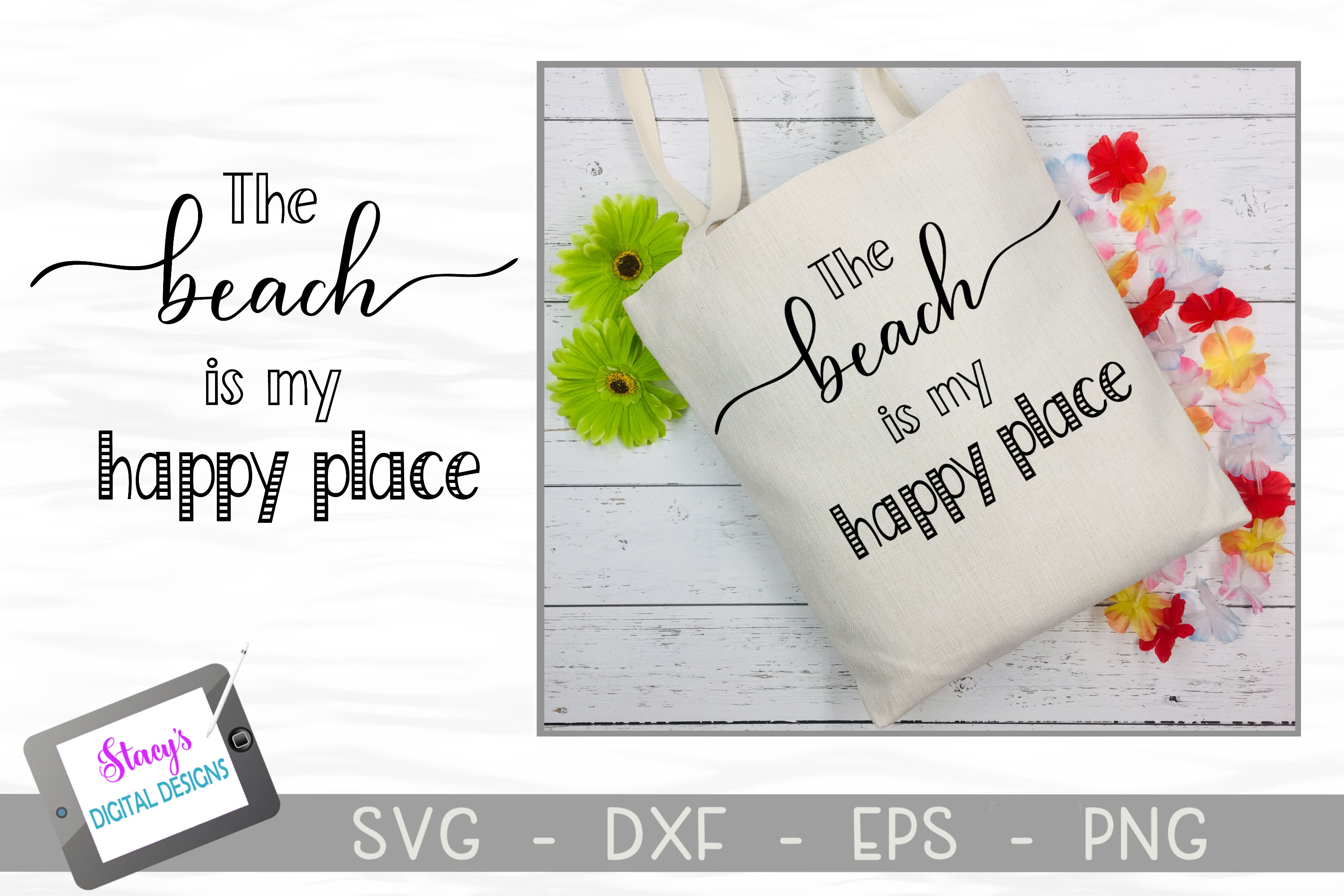 The Beach is My Happy Place SVG - Beach SVG File example image 2