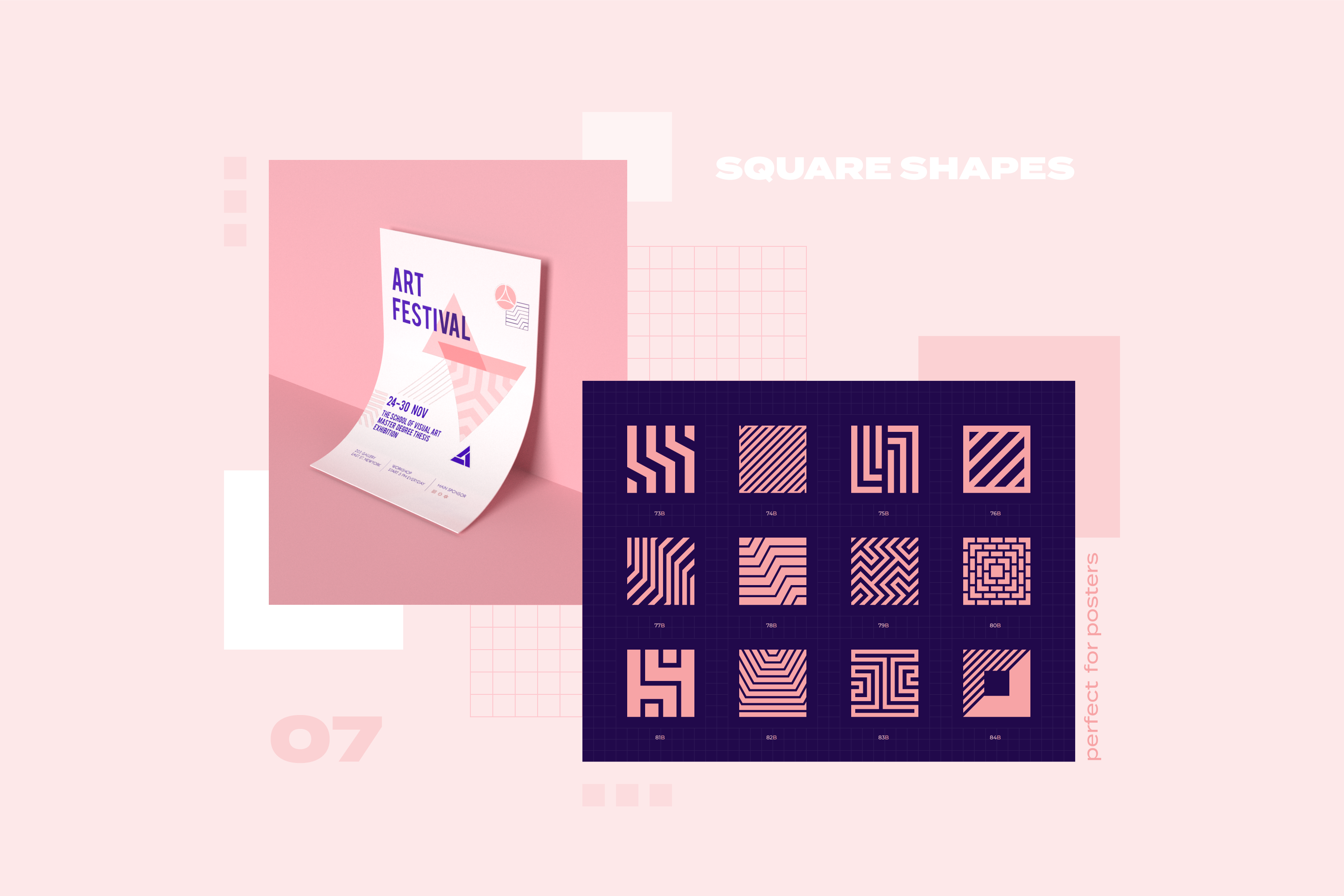 96 Geometric shapes & logo marks collection VOL.1 example image 19