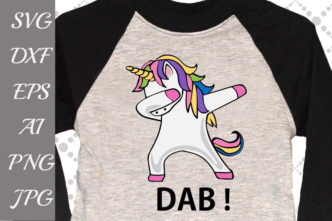 Dabbing Unicorn Svg example image 1