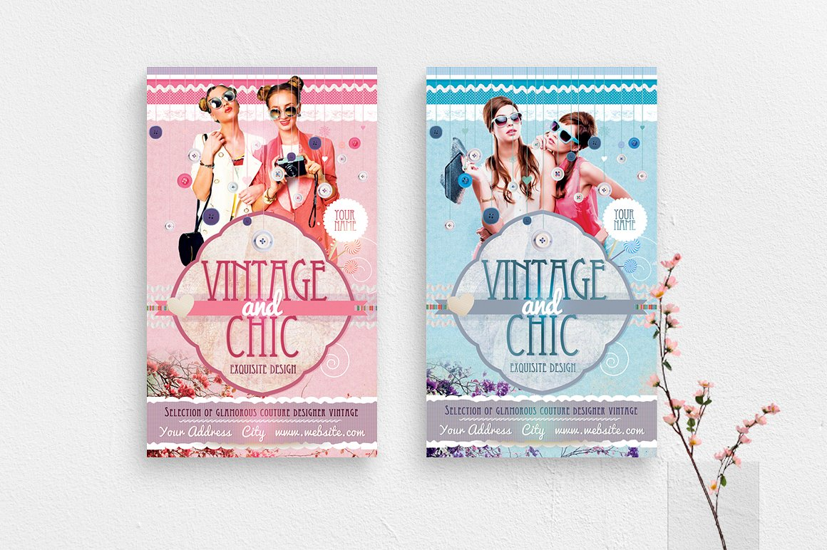 Vintage and Chic Flyer Template example image 1