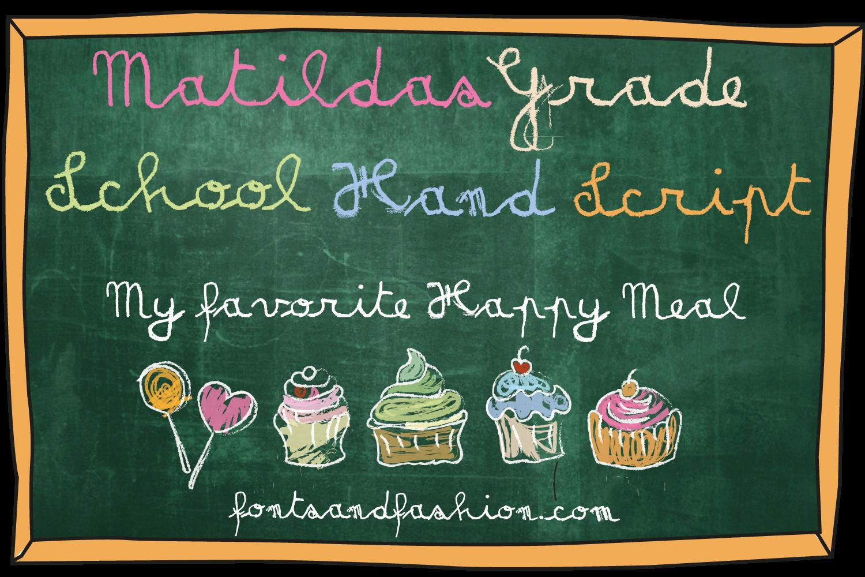 Matildas Grade School Hand_Script example image 3
