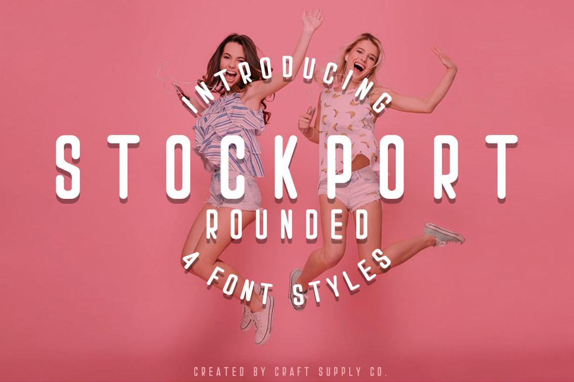 Stockport Rounded + Bonus Logo example image 1