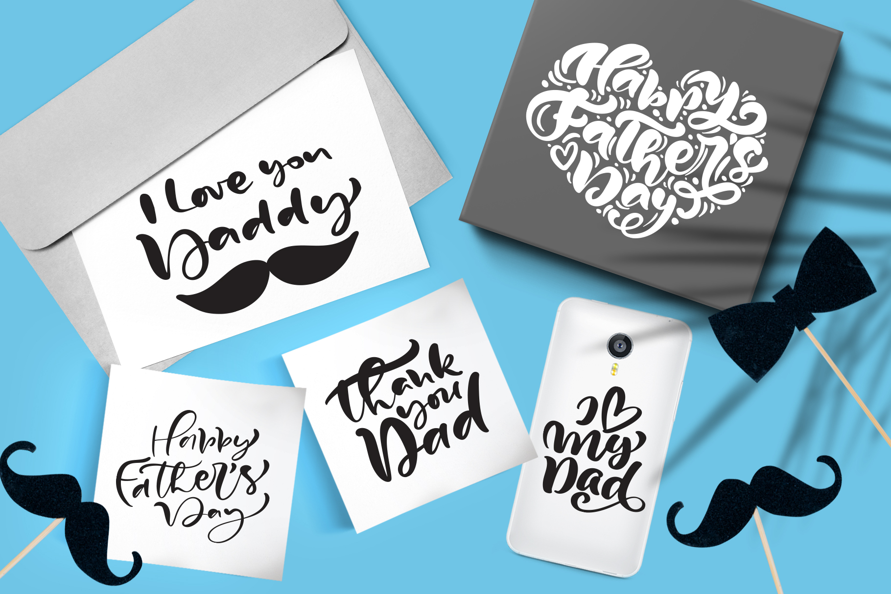Fathers Day vector SVG greeting quotes example image 3