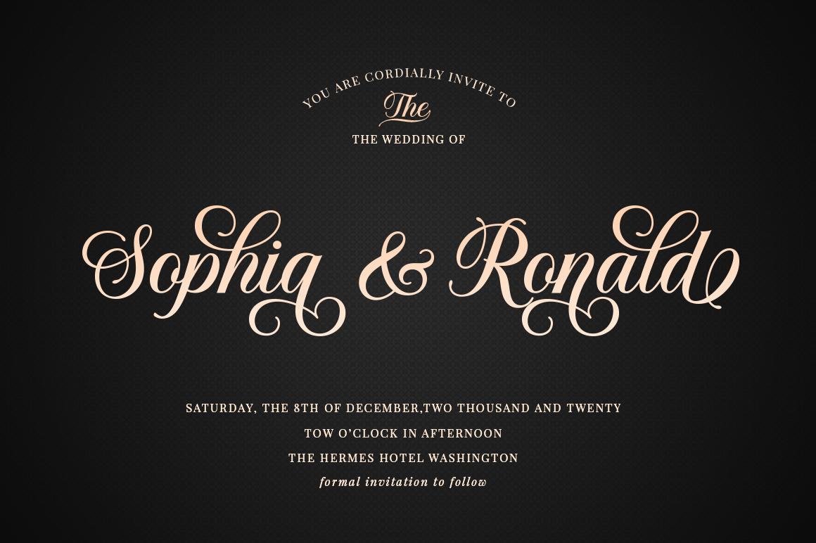 Solistaria-Elegant Calligraphy Font example image 5