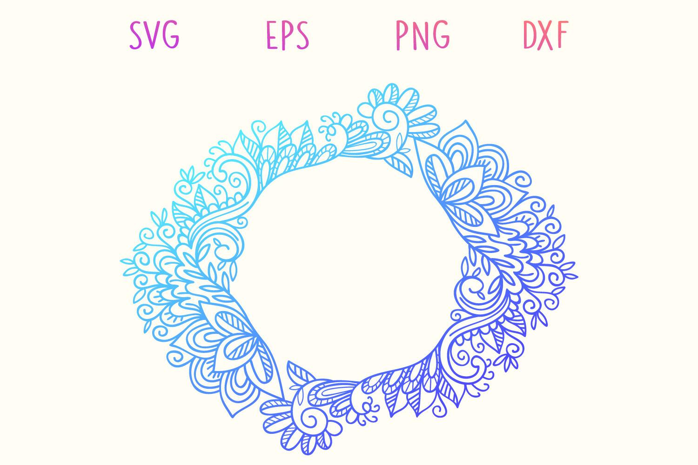 Zentangle Monogram - 5 SVG cut files example image 6