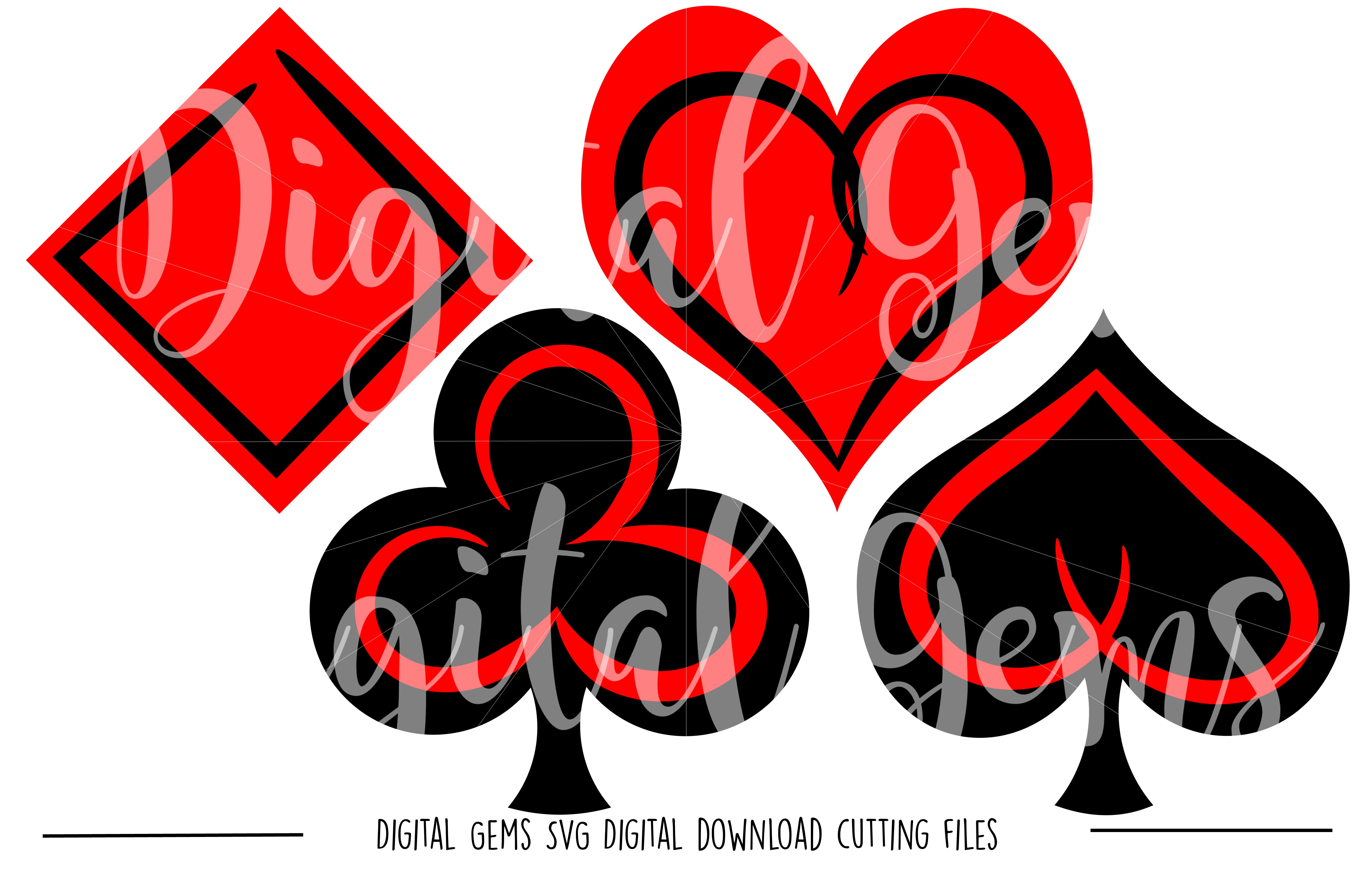 Playing card Symbols SVG / DXF / EPS / PNG files example image 1