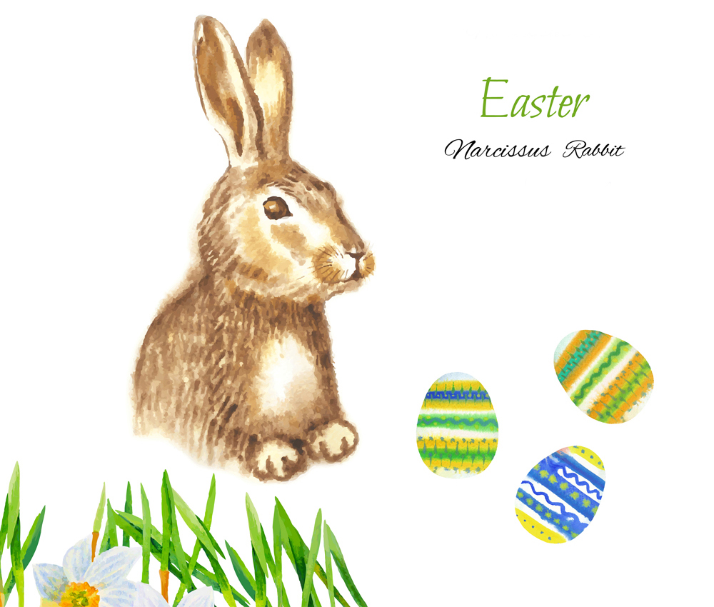 Clipart with Easter Rabbits example image 2