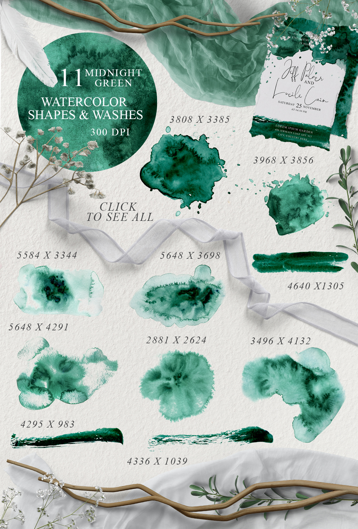 Elegant Watercolor Backgrounds example image 4