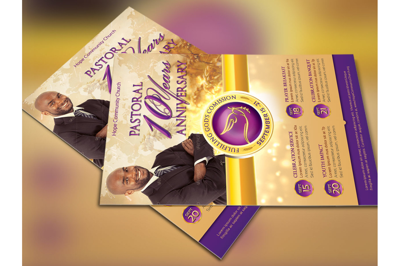 Clergy Anniversary Flyer Template example image 3