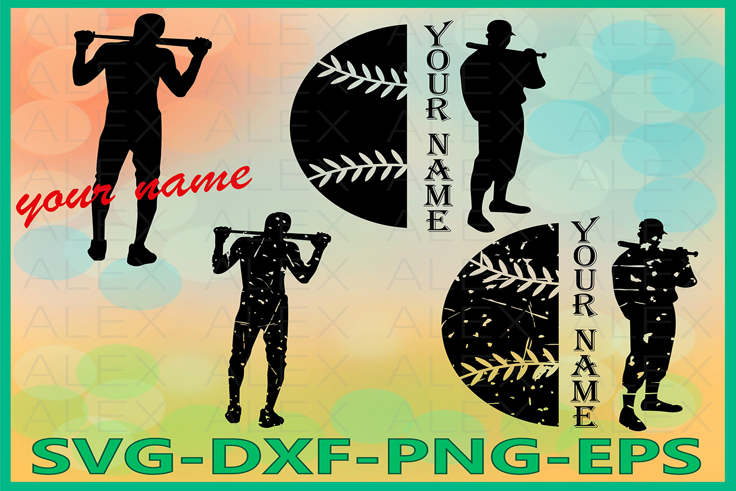 Baseball SVG, Distressed Baseball Svg Files, Print Files example image 1