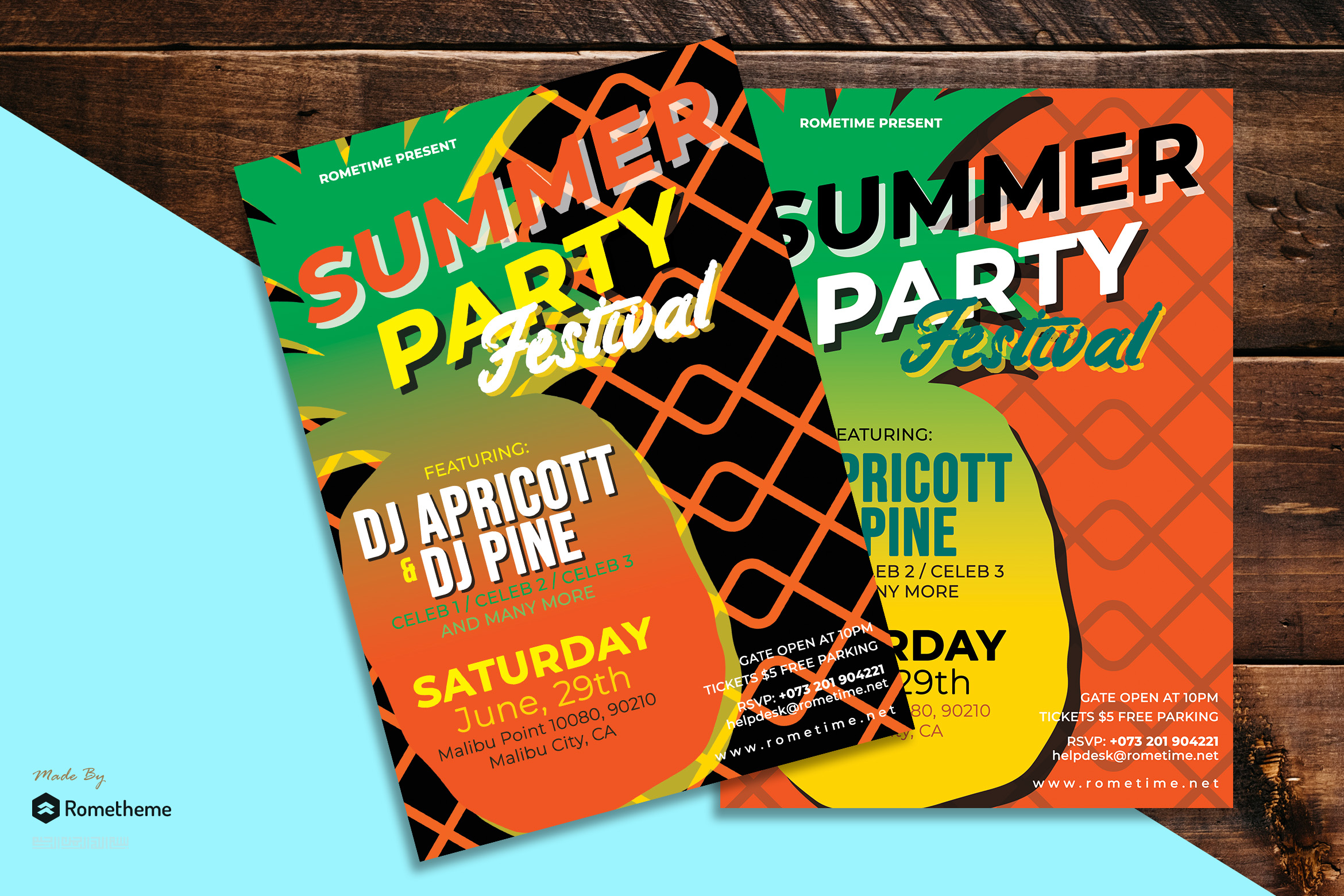 Summer Party Flyer vol.01 example image 1