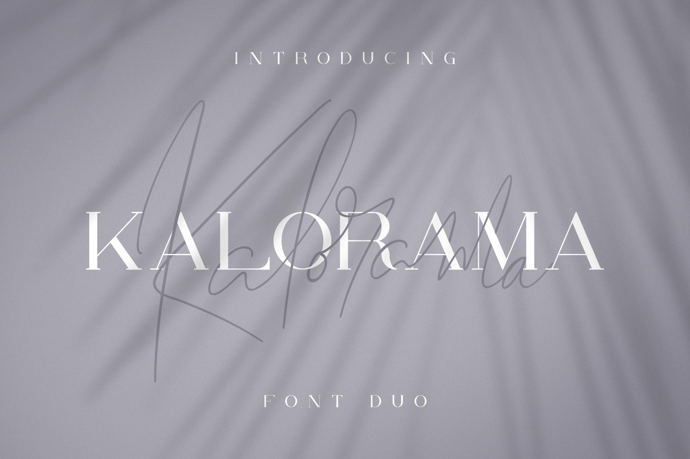 Kalorama - Font duo example image 1